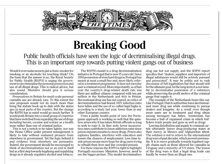Hey man, The Times calls for the legalisation of all drugs https://t.co/HICHI01O0g