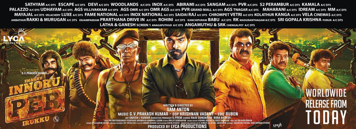 #EnakkuInnoruPerIrukku in theatres from tomm ... Do watch and support ... #eipi