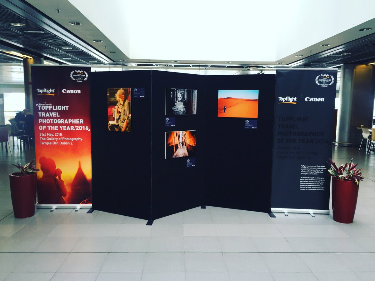 We're delighted to host @Topflight_ie Travel Photographer of the Year 2016 display in T1.