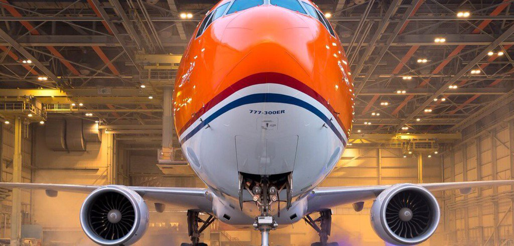 KLM launches orange plane