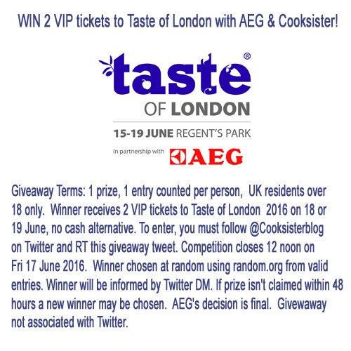 Follow me & RT to #WIN 2 tickets to @TasteofLondon to see #Tasteology https://t.co/84EKCXdc6T  #Taketastefurther https://t.co/6kReKJJPkI