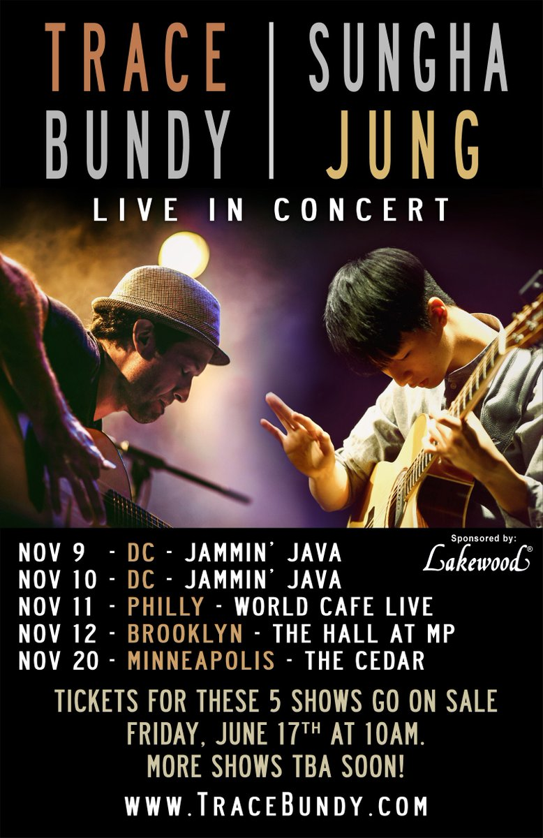 Nov tour w/ @JungSUNGHA! Reminder that tix go on sale TOMORROW, Fri 6/17 at 10AM for 5 shows.https://t.co/yFRPYRVSHH https://t.co/hjWx7xhQxM