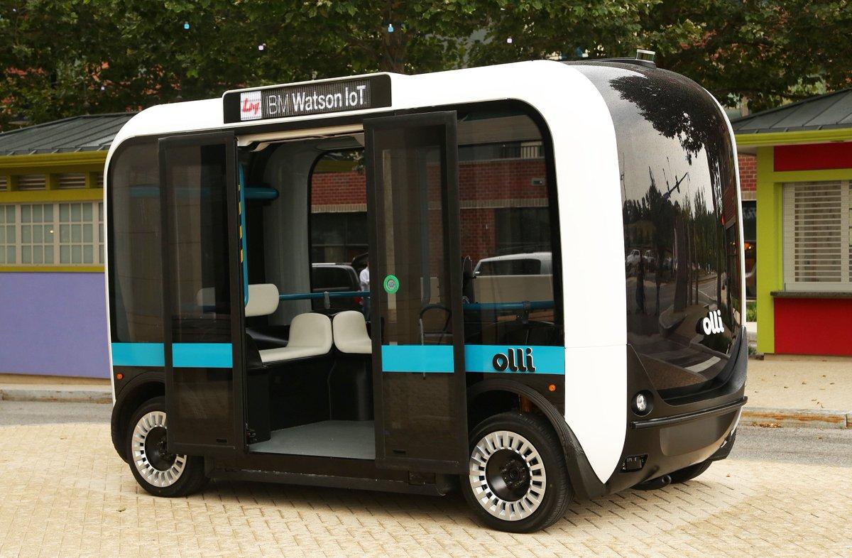 Esse é o Olli, o carro cognitivo do futuro que foi hoje para às ruas de Washigton, DC. #MeetOlli #WatsonIoT https://t.co/a9aRJFA7mZ