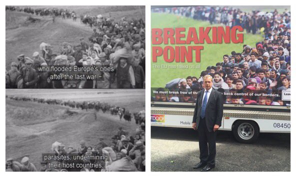 On the left: an actual Nazi propaganda film On the right: Nigel Farage, today https://t.co/bSOK9veIBI