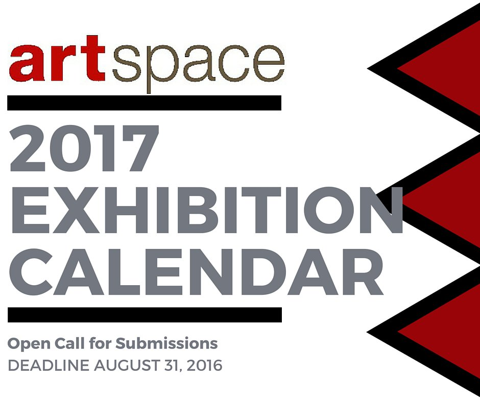 artspace Gallery 2017 Exhibition Calendar Open Call for Submissions DEADLINE AUGUST 31, 2016 https://t.co/s3fsIAcsYi https://t.co/uhF3HWybqB