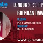 Data. It's big. It's everywhere. Learn to use it with @brendandawes #GenerateConf #London https://t.co/Eb7apmQJ00 https://t.co/U40bLox63d