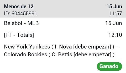 #Betting 15-06 #MLB #Win -