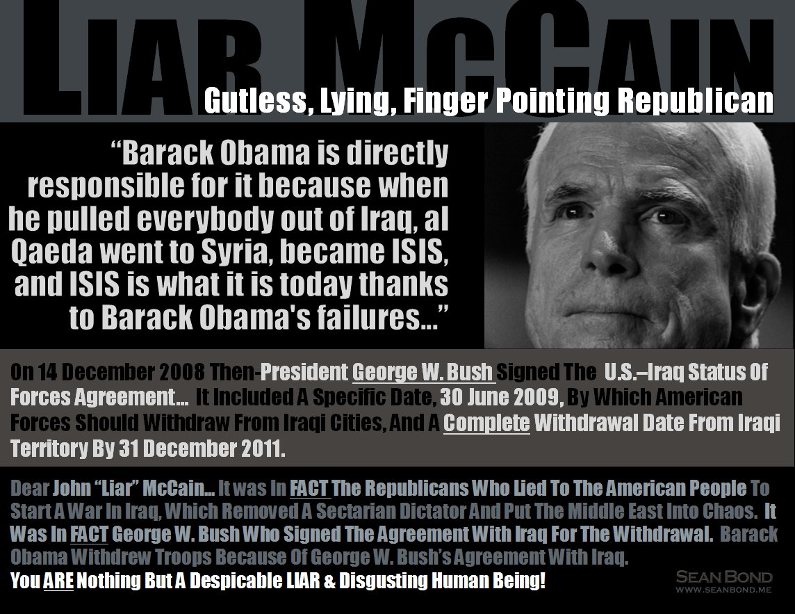 MT | LIAR McCain: Obama 'responsible' for Orlando @CNNPolitics https://t.co/ZnBVBGpn8s Shameless LIAR McCain https://t.co/cnzM46vCed