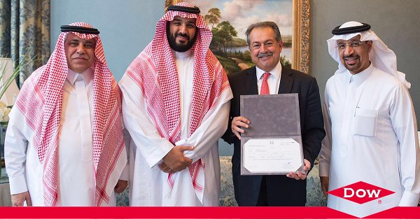 #NEWS: Dow is the first company to receive Saudi trading license to advance @SaudiVision2030 https://t.co/Cm9KPm7JW1 https://t.co/z26P7Grfz4