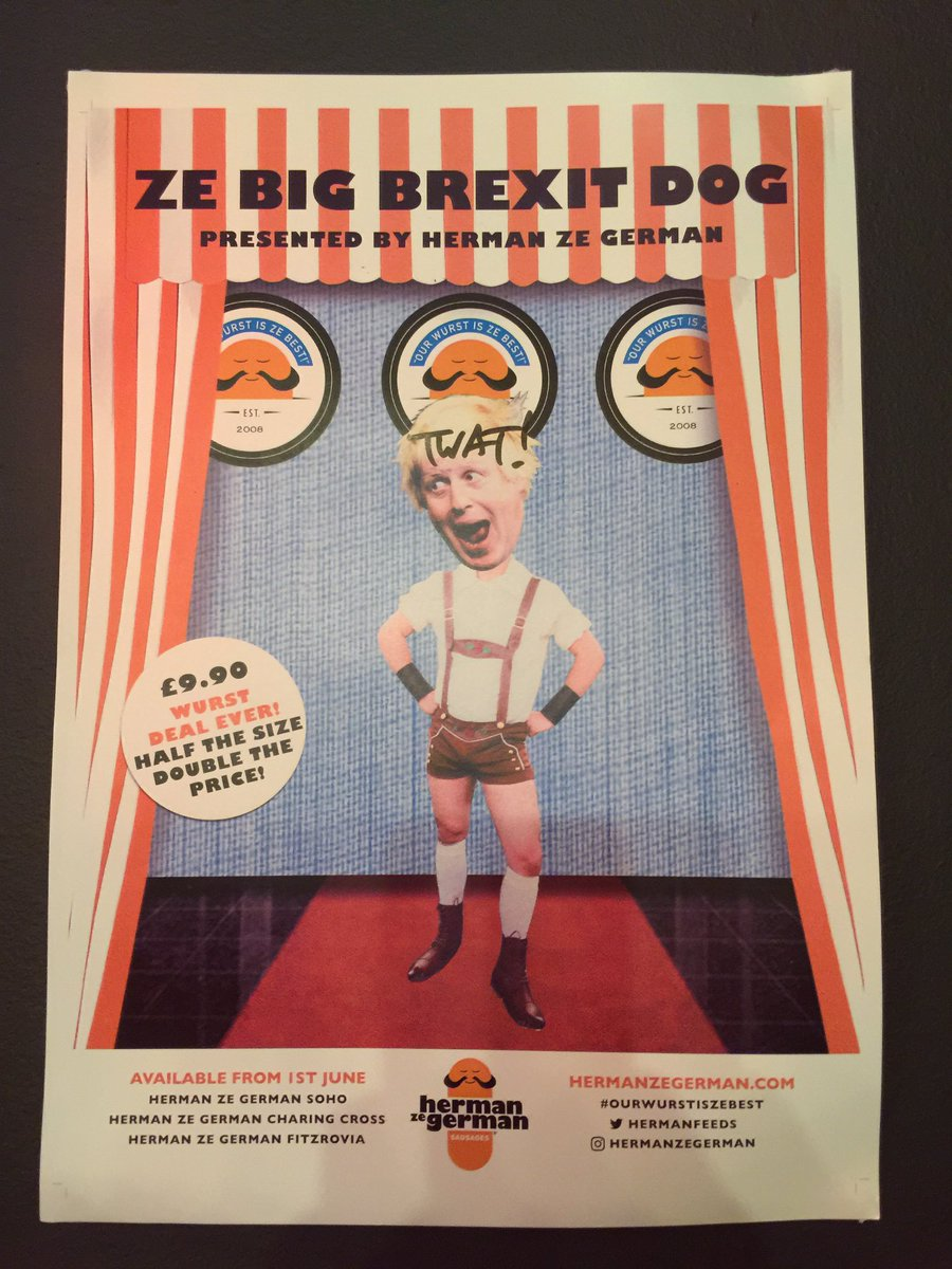 Herman ze German in soho look like they are all set to leave @HermanZeGerman #VoteLeave https://t.co/bgY9WDRXHK