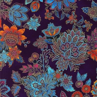 Any quilters/sewists have even a small piece of this fabric they'd sell me? Robert Kaufman grandeur 3 jewel floral https://t.co/uwjqZLPV1A