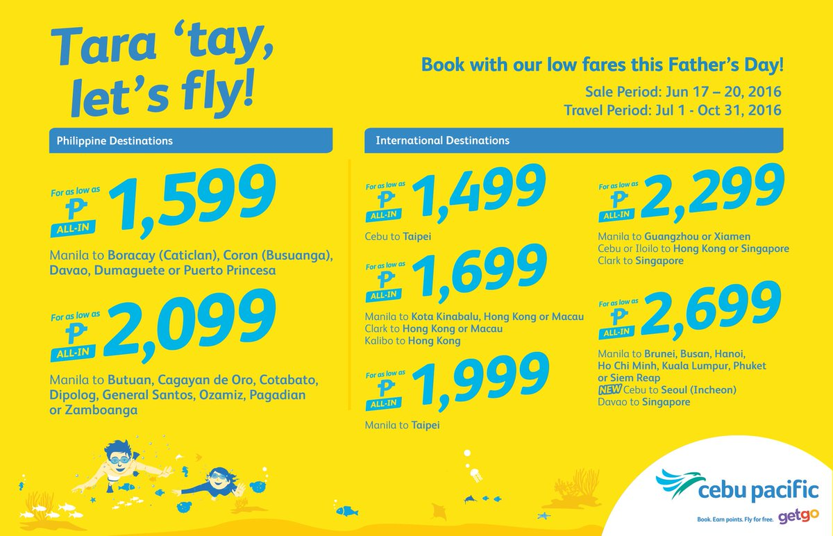 Take tatay on a memorable vacay with this new CEBSeatSale! Book now!