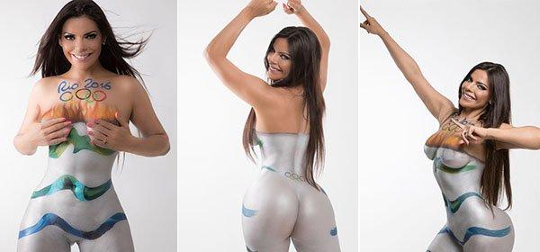 RT @portaldaband: Miss Bumbum 2015 faz homenagem aos Jogos Olímpicos com pintura corporal de tocha https://t.co/P7JssJtSKw https://t.co/Fo3…