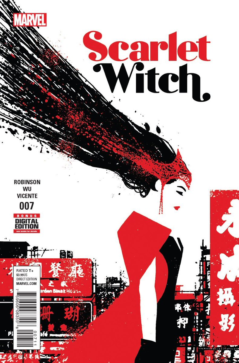 All of next week's SCARLET WITCH covers are breathtaking. June Brigman's is especially surprising. https://t.co/Vq4m4WxkiQ