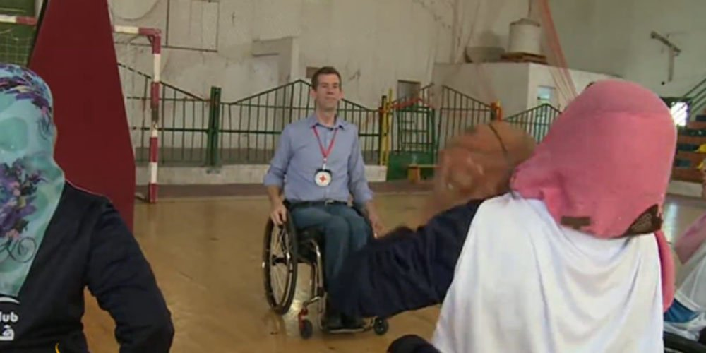 US coach promotes women's wheelchair basketball in Gaza