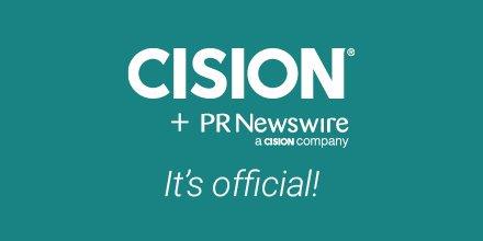 It's official! @PRNewswire is now part of @Cision https://t.co/KHRtNKDuzV #PR #IR #marketing https://t.co/OBc0C6xFGL