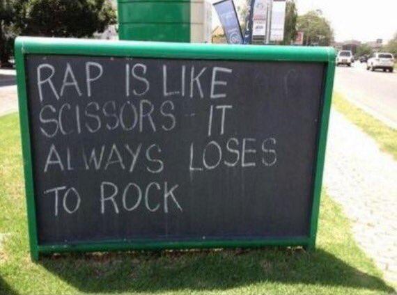 Rap is like scissors, it always loses to rock! #MonstersOfRock #MOR https://t.co/kMLY302XwI