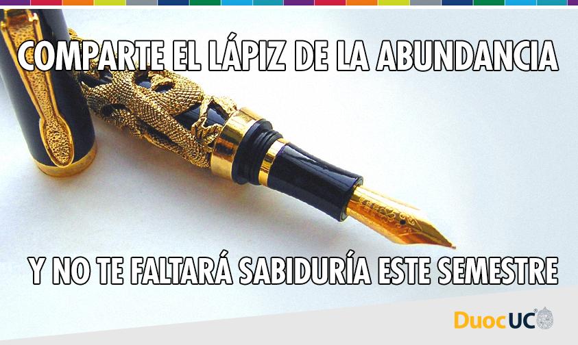 Se  acerca el periodo de exámenes, mejor comparte este lápiz de la abundancia por si las dudas ✨. https://t.co/55jhYsf44S