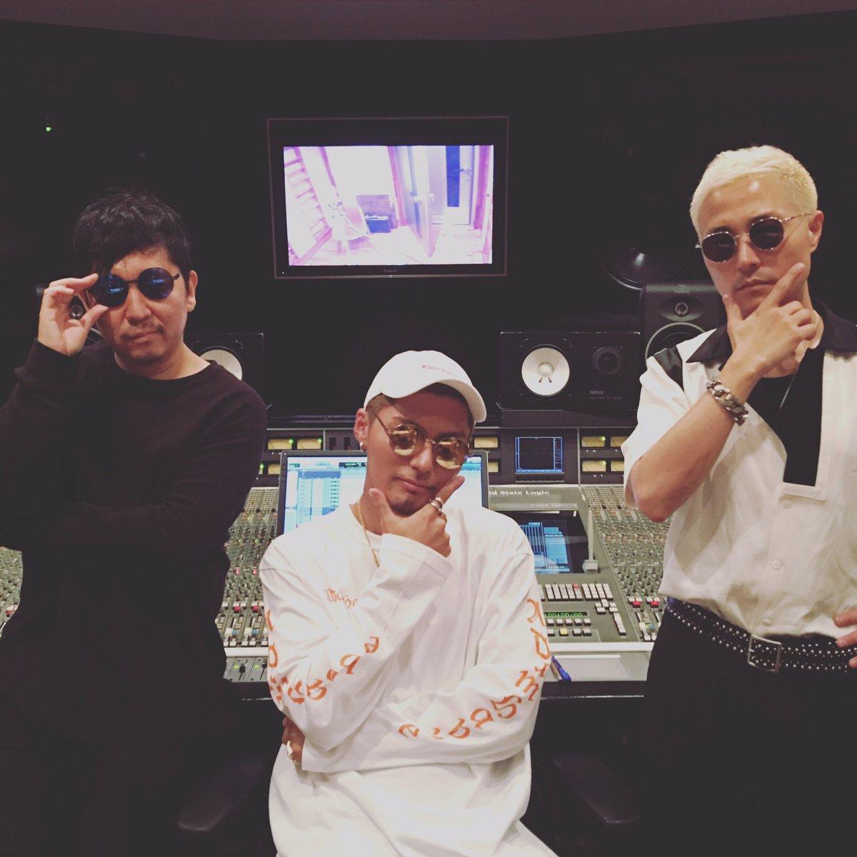 #exile #Shokichi さんと @verbal_ambush と一緒にスタジオにてパシャり