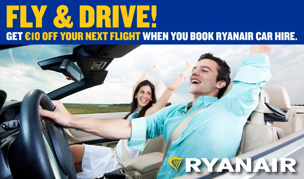 We have launched our Fly & Drive offer! Book now to get €10 off!