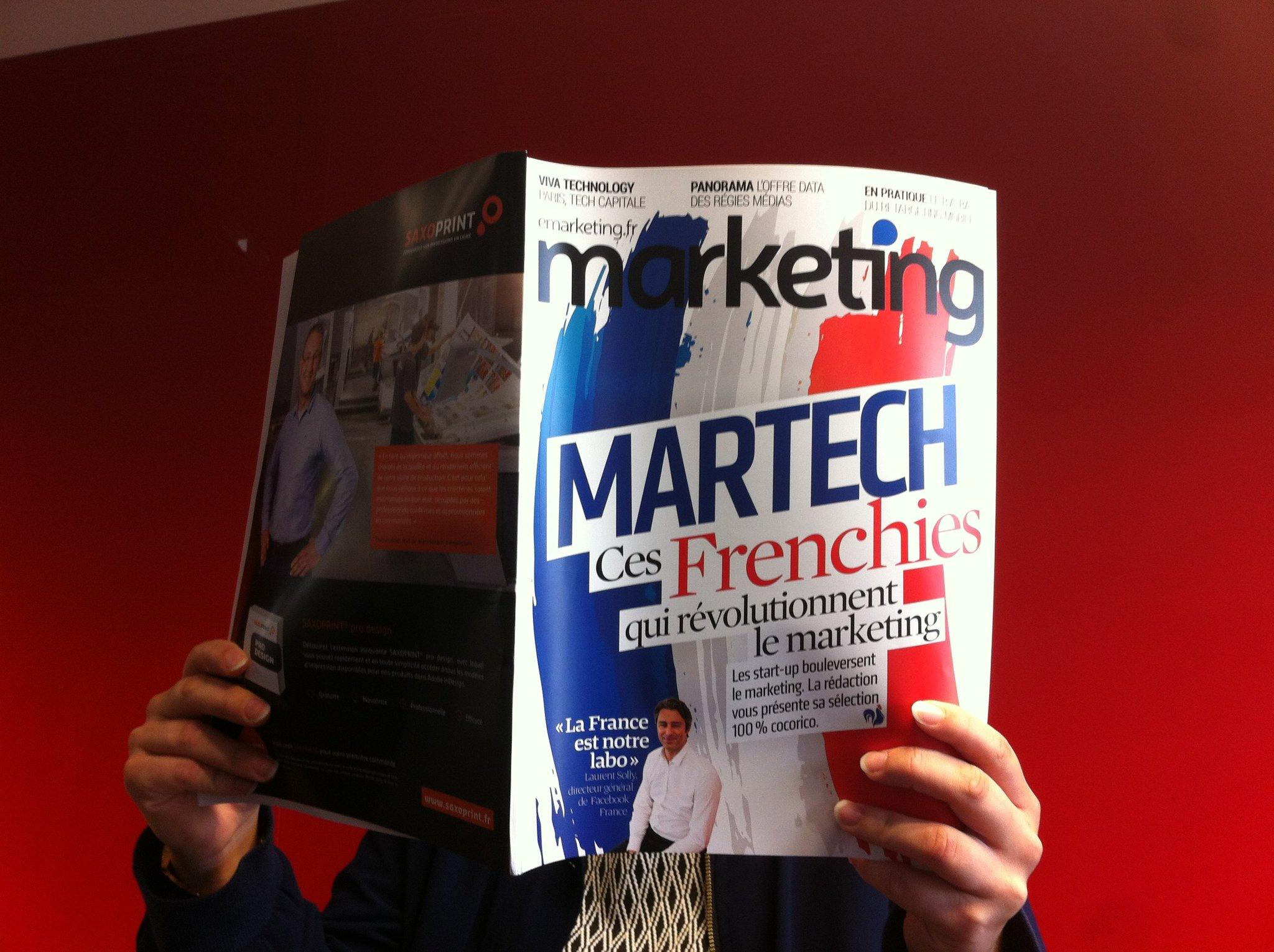 """Découvrez les 50 """"frenchies"""" qui révolutionnent le marketing dans le prochain numéro de Marketing #martech #cocorico https://t.co/ioVTii921c"""