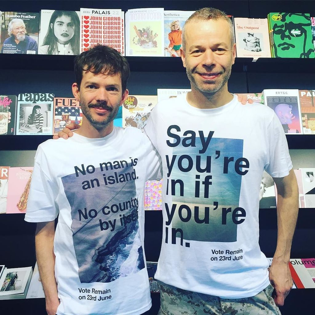 NEW! In stock now: @wolfgang_tillmans #EUremain tshirts delivered by the man himself #whatislostislostforever #noma… https://t.co/EqGkoyhf4B
