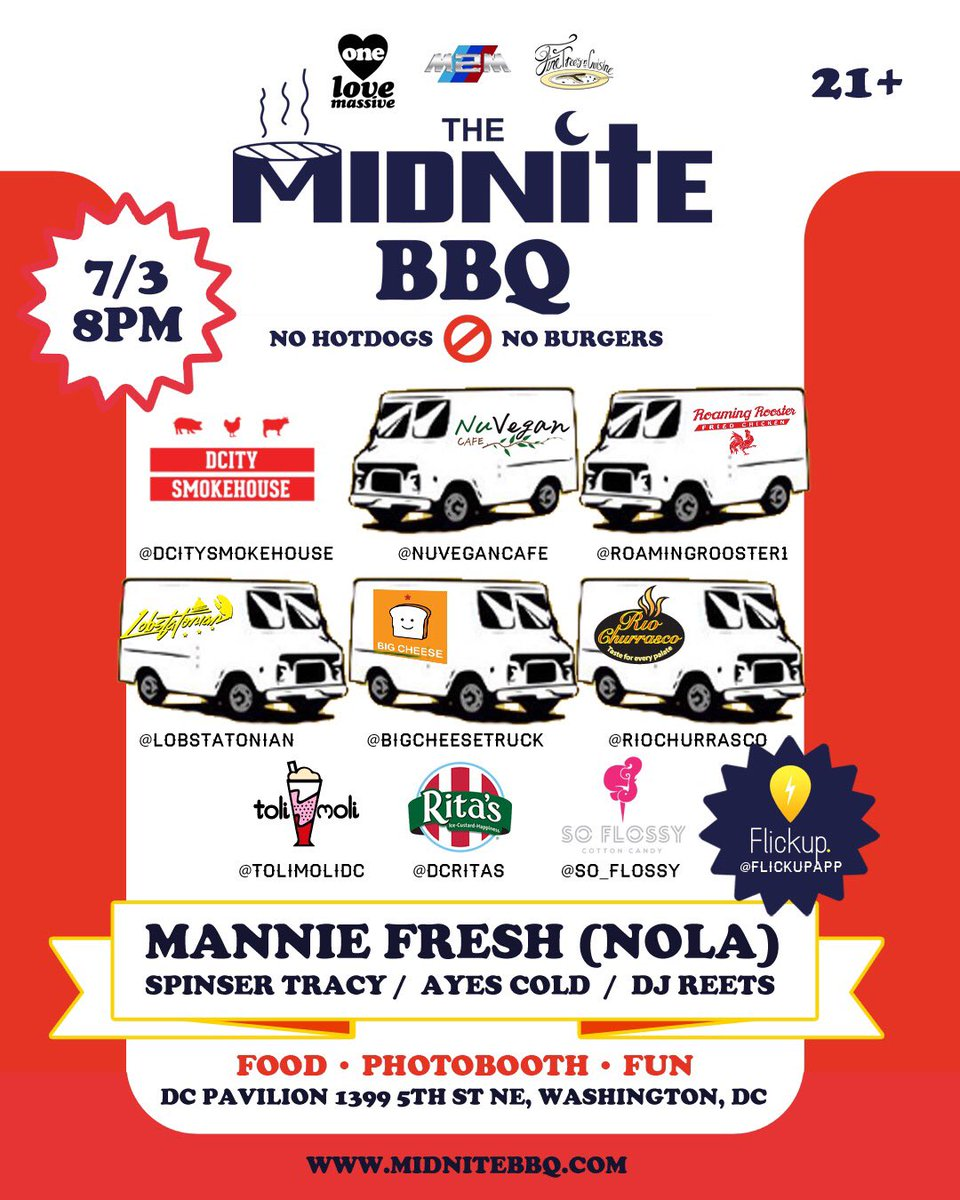 Sir Freshly @manniefresh spins @themidnitebbq EP III w/ @SpinserTracy @ayescold @ReetAbooK &the BEST DC food trucks! https://t.co/nd8kT5TrxA