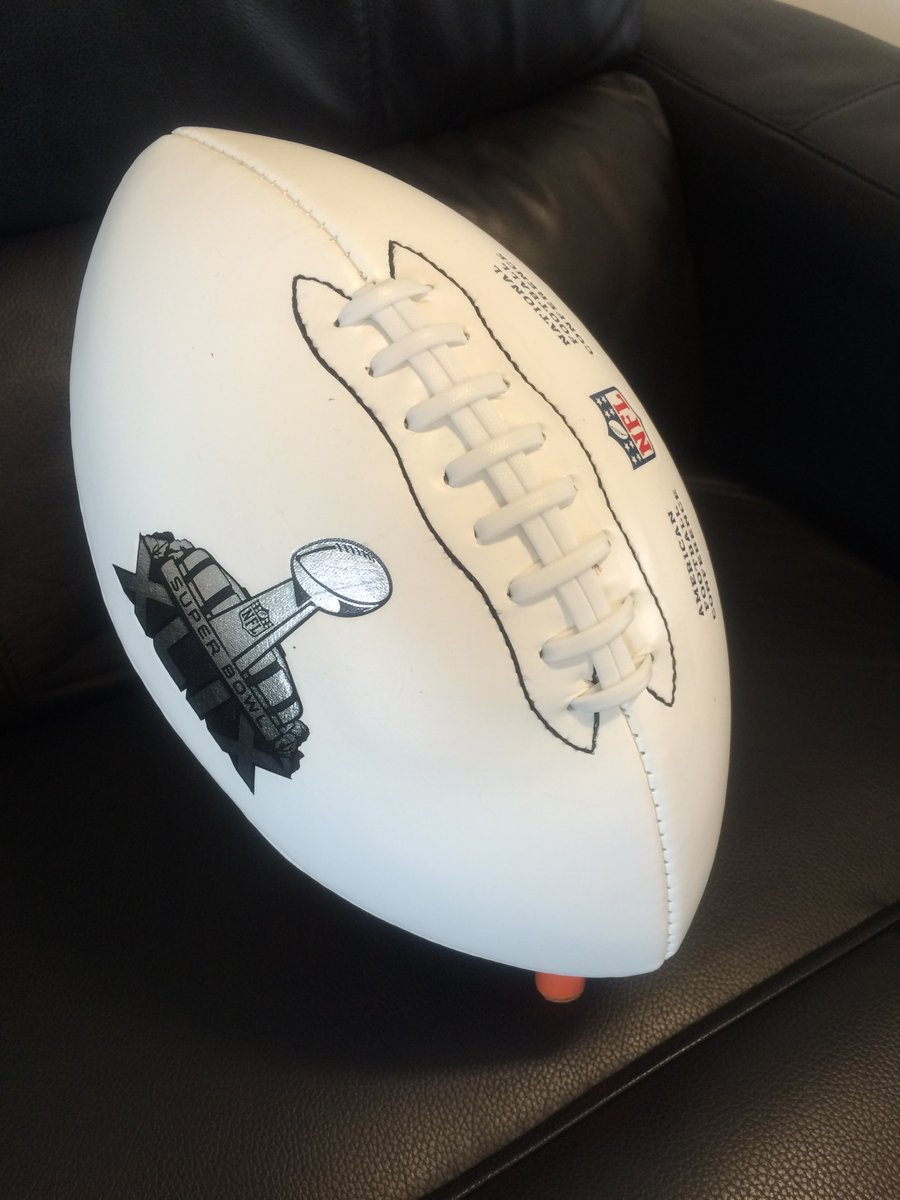 #WIN this @SuperBowl XLIX white ball!  We've got one to giveaway - just RT for your chance of winning.
