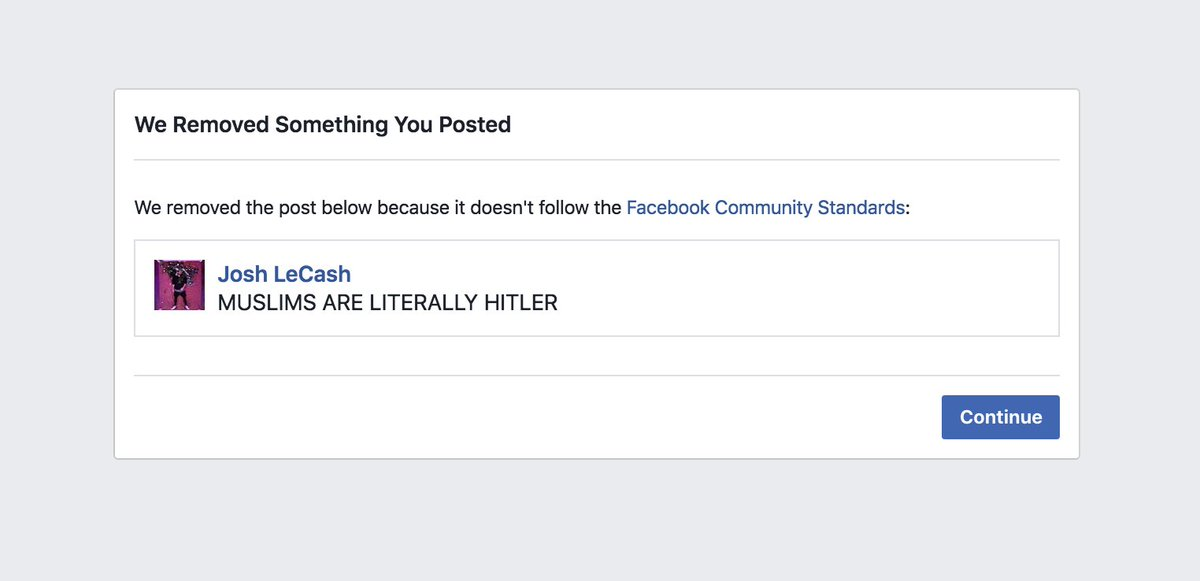 SO FACEBOOK TEMPORARILY BANNED ME FOR POSTING THIS... https://t.co/zsffYxSsxk