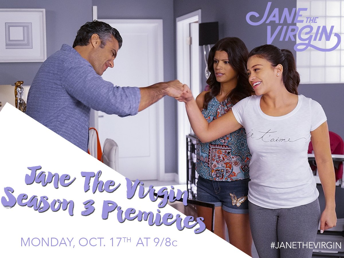 Mark your calendars! #JaneTheVirgin returns Monday, Oct. 17th at 9/8c on #TheCW! https://t.co/Dytl4r6TED