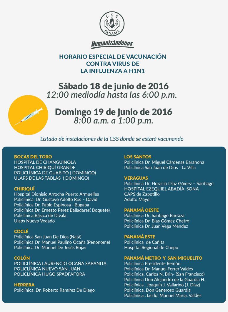 #CSSContigo Estos son los horarios de vacunación contra influenza este fin de semana https://t.co/ViPU3j9V0a
