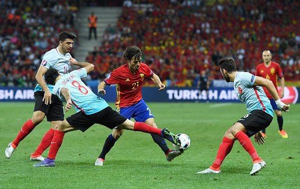 Gran partido del equipo contra Turquía,ya estamos en octavos!! ����#VivaEspaña https://t.co/RsSIYEpXbC