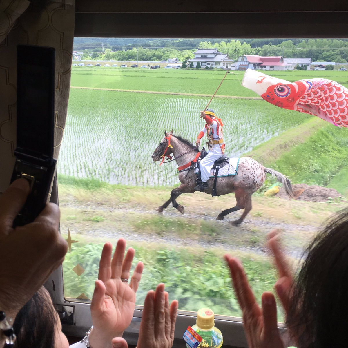 窓の外を馬が並走してた https://t.co/VcQ5NfDtFo