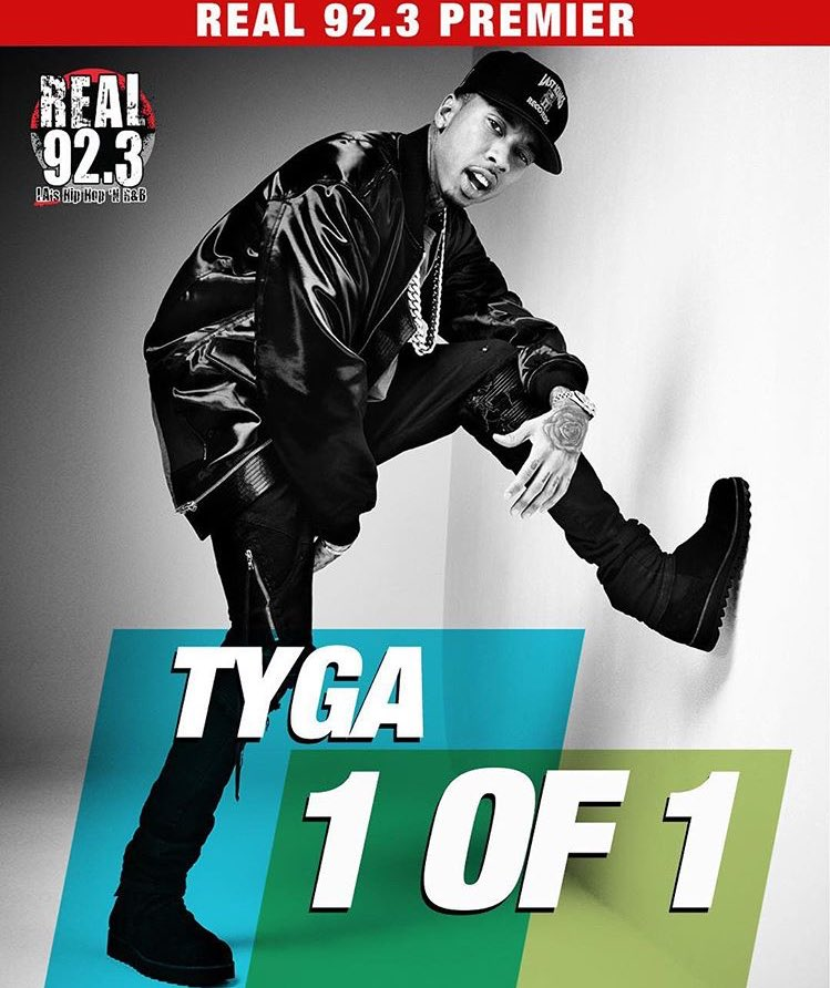 "Now playing @Tyga's ""1 of 1""... We're in the mix! @Real923LA #YoungCaliforniaTrafficJam https://t.co/YUwk75bDrH"