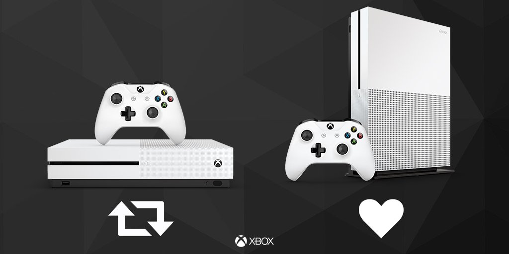 The Xbox One S. Which do you prefer? #Xbox https://t.co/cajlq8scZL