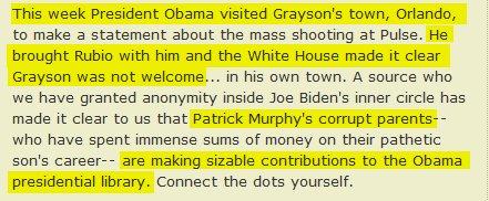 More proof Obama-Clinton wing hates progressives. Obama picks Rubio over Grayson (D-Orlando) for Orlando (!) event. https://t.co/FtoDy6Nr3R