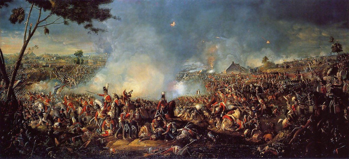 Today 1815, at Waterloo the British Army ended French plans for a united Europe under their domination. https://t.co/AHRwLU5Gvc