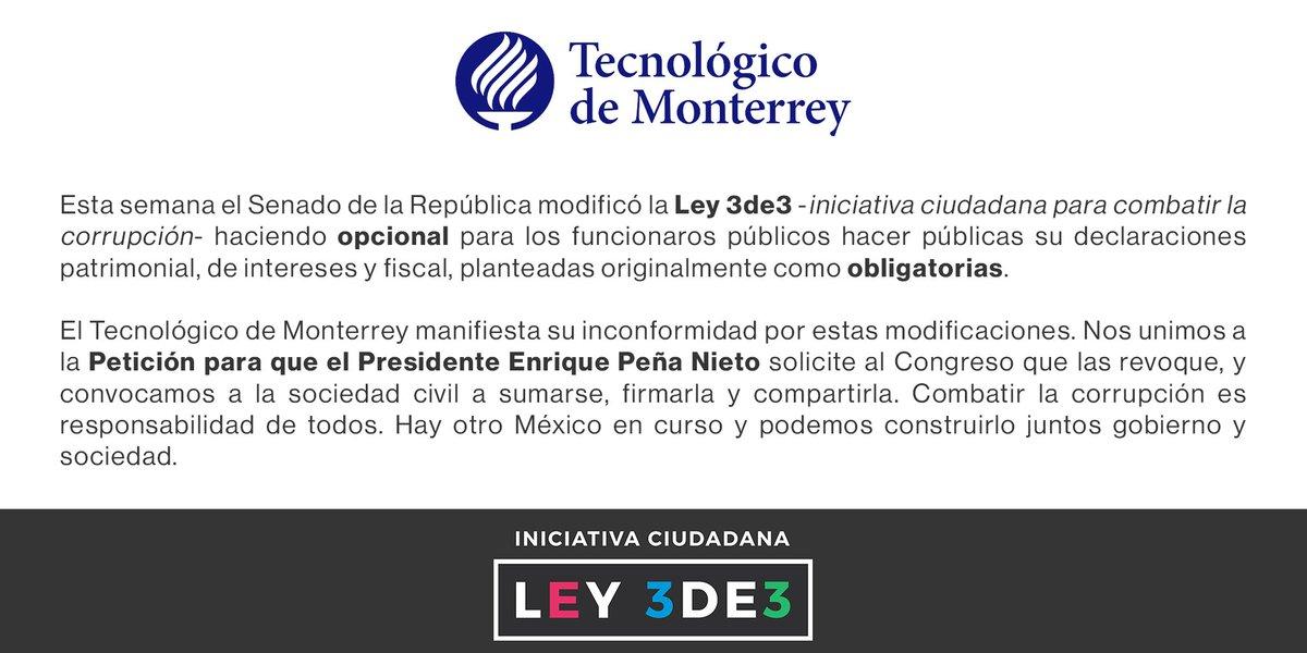 #VetoPresidencial #ley3de3 #3de3   Súmate, firma y comparte https://t.co/Z8WUhf7kZ6 https://t.co/91ecXOh8l8