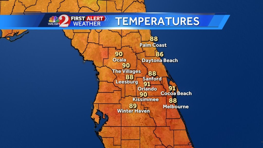 Here's a look at area temps at lunchtime: https://t.co/xizW8zvOWO