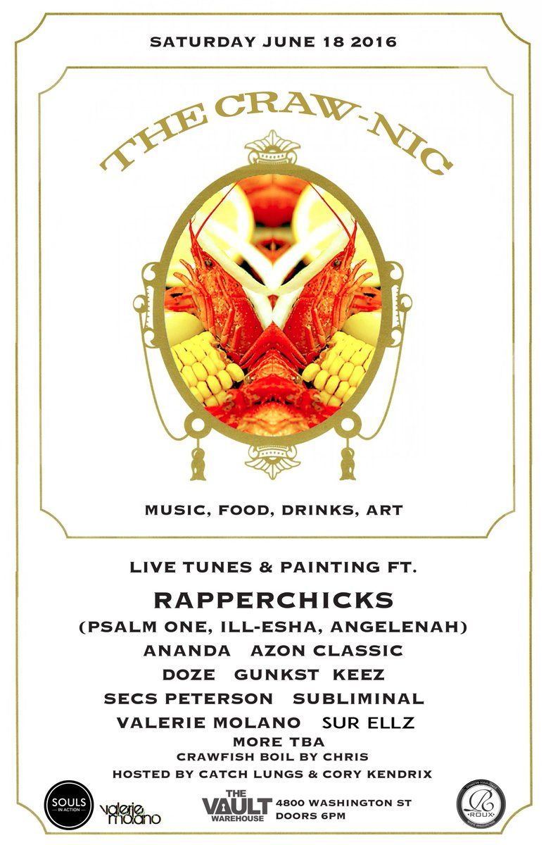 Crawfish boil warehouse party Denver tonight w legends @soulsinaction @TheRapperChicks @catchlungs @CORYKENDRIX ++ https://t.co/LSmgPTdo4c