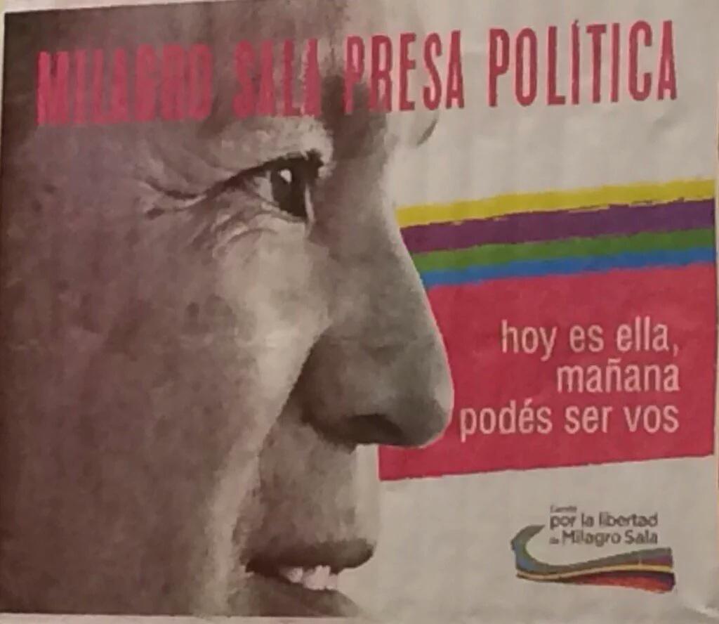 Desde Venezuela las Mujeres nos hacemos Solidarias con la Presa Política de Macri #MilagroSala #NiUnaMenosPorLuchar https://t.co/G55hmMVrOV