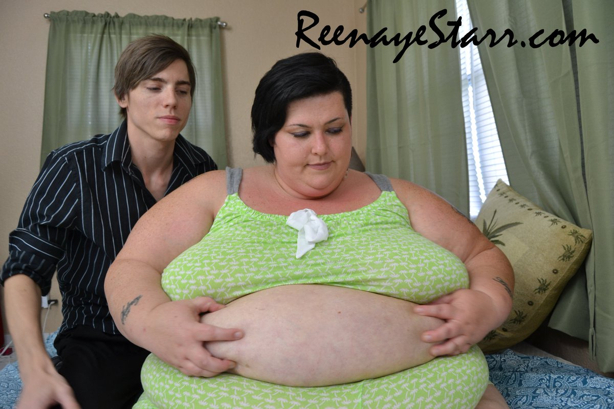 This Behind the Scenes Photo was happy accident! rubs my big fat belly! #Feederism #SSBBW