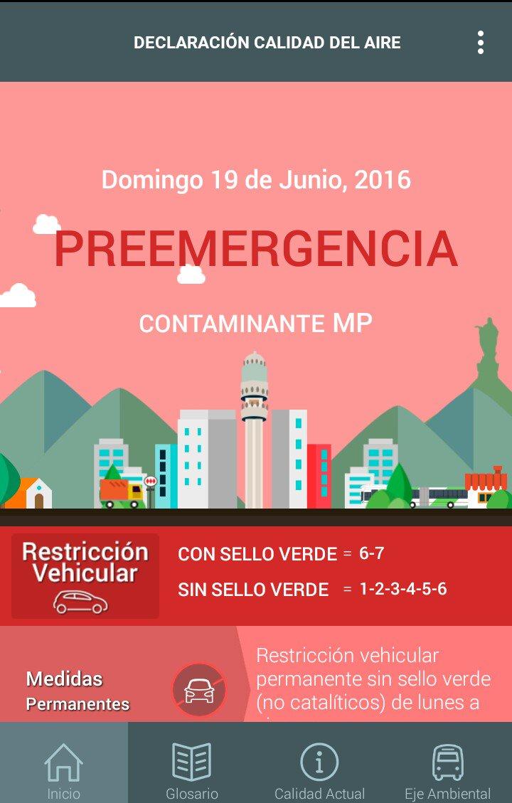 Ojo este domingo 19 preemergencia restricción a catalíticos 6 y 7 https://t.co/qtYmlGiWmP