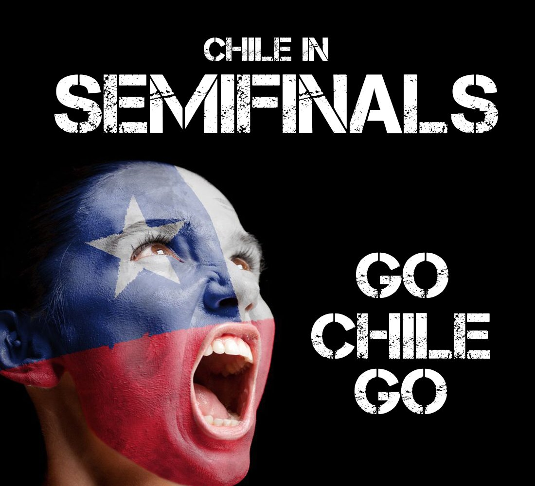 Chile rocks!! Se pasó #LaRoja Felicitaciones! https://t.co/nW2CS2N0u2