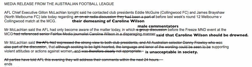 I don't think the AFL quite got their statement right tonight. https://t.co/98pGk65jGV