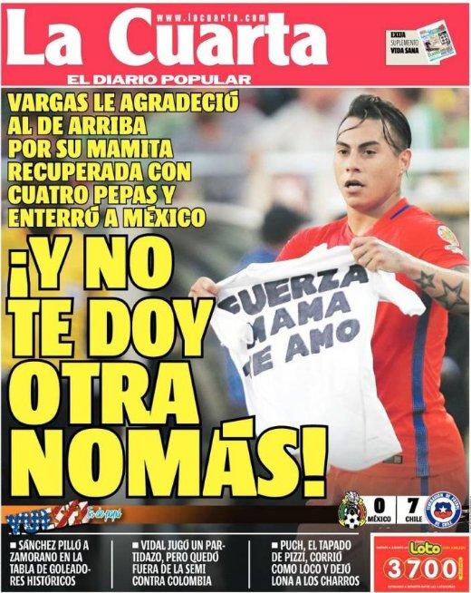 Cuarta: La portada del diario La Cuarta, de Chile, tras la histórica ...