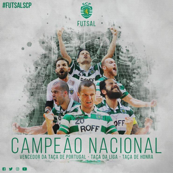 Sporting CP conquista o 13º título de Campeão Nacional, após vencer o @SLBenfica na Luz! #CampeõesFutsalSCP https://t.co/gQAzIpbztF