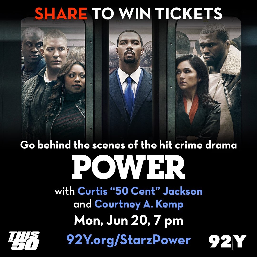 NYC! Repost this pic and tag #StarzPower92Y to win 2 tix for tomorrow live POWER Q&A with 50 in NYC https://t.co/puswbqfmQr