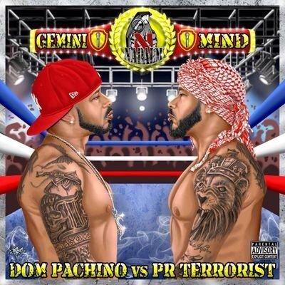 Check out the cover for @PRTERRORIST new album Gemini Mind: Dom Pachino vs PR Terrorist https://t.co/w2SualWFKL