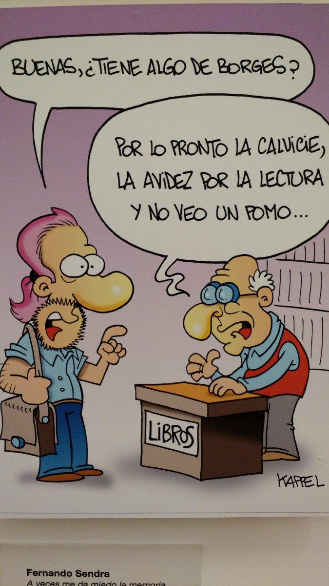 Qué tenés de Borges? Muestra en el @elCCKoficial #humor #cartoon #literatura #libro #book @BorgesJorgeL https://t.co/GQPvKkYkhr